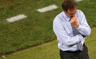 Laurent Blanc, lors de la défaite de l'Equipe de France 2-0 face à l'Espagne lors de l'Euro 2012, le 23 juin.