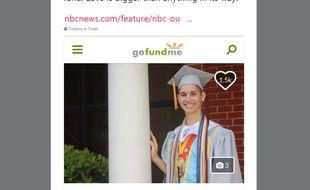 Capture d'écran de Seth Owen, image issue de la campagne de dons en ligne pour son entrée à la faculté.