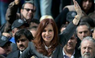 L'ex-présidente argentine Cristina Kirchner à Buenos Aires le 13 avril 2016