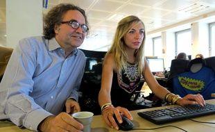 Grégoire Bonnet Amélie Etasse, alias Philippe et Camille, le nouveau couple de «Scènes de ménages», en chat à la rédaction de 20 Minutes, le 14 septembre 2015.