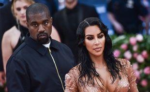 Kanye West et sa femme, Kim Kardashian à New York.