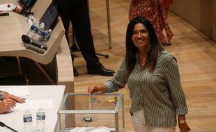 Samia Ghali, ici dans l'hémicycle lors de l'élection de Michèle Rubirola à la mairie de Marseille le 4 juillet, a obtenu un poste de deuxième adjointe.