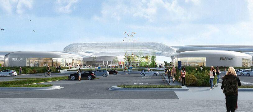 Le projet de zone commerciale Open Sky à Pacé, près de Rennes, tel qu'imaginé par le promoteur immobilier. Un projet qui ne verra jamais le jour.