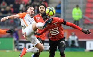 Ismaïla Sarr a été blessé au visage dimanche par Aguilar lors du match entre le Stade Rennais et Montpellier.