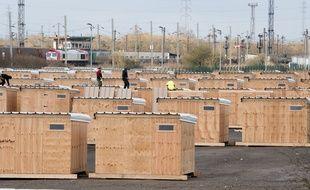 Le camp en dur de migrants ouvert lundi 7 mars 2016 à Grande Synthe (Nord).