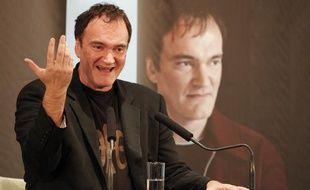 Quentin Tarantino en conférence de presse à Lyon lors du Festival Lumière, le 15 octobre 2013.