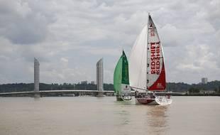 Les skippers ont fait de mini-courses sur la Garonne.