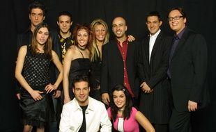 Une partie de la première promo de la Star Ac', aux NRJ Music Awards 2002.