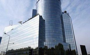 La tour de TF1, au siège de la première chaîne de télévision, à boulogne-Billancourt (Hauts-de-Seine).