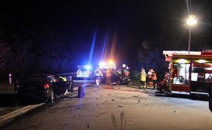 Le conducteur ivre a provoqué un accident de la route près de Lyon. Son passager est décédé quatre jours plus tard. (illustration)