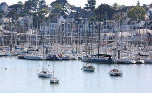 Le port de plaisance de la Trinité-sur-mer (Morbihan).