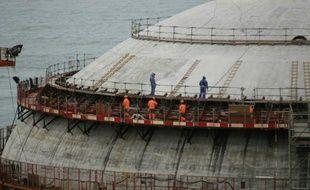 Construction de l'EPR de Flamanville, le 30 mars 2016