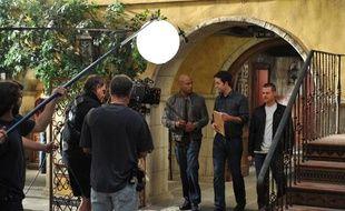 Le plateau de la série NCIS: Los Angeles, aux studios Paramount, à Hollywood