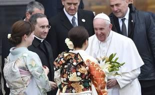 Le pape, en visite au Japon fin novembre 2019, a rencontré des survivants des attaques nucléaires de Nagasaki et Hiroshima.