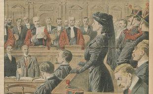 Marguerite Steinheil, dite «Meg», lors de son procès.