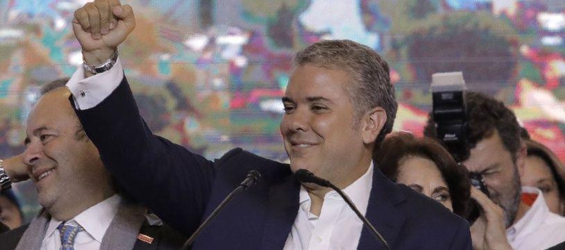 Ivan Duque après son élection à la présidence de la Colombie, le 17 juin 2018.
