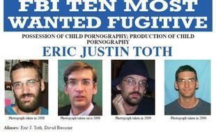 La fiche du FBI concernant Eric Justin Toth, l'un des 10 criminels les plus recherchés des Etats-Unis.