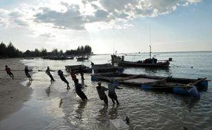La baie de Ban Nam Khem en Thaïlande en 2004