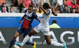 Le Parisien Gregory Van der Wiel lors du match contre Guingamp le 31 août 2013.