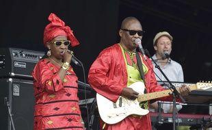 Amadou & Mariam au festival We Love Green à Paris, en juin 2017.