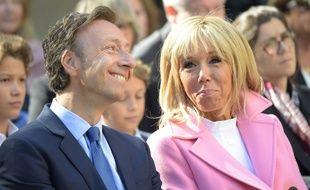 Brigitte Macron et le prési... l'animateur Stéphane Bern à la la Villa Viardot à Bougival pour les Jurnées du patrimoine 2018