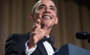 Le président américain Barack Obama lors d'un dîner à Washington, le 30 avril 2016