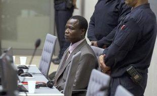 Dominic Owgen, ancien chef de guerre ougandais, lors de son procès devant la cour pénale internationale à La Haye, le 21 janvier 2016