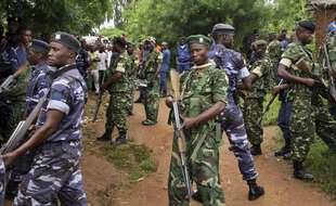 Des militaires et des policiers au Burundi en 2018 (illustration).