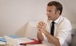 Emmanuel Macron, le 11 août 2020.