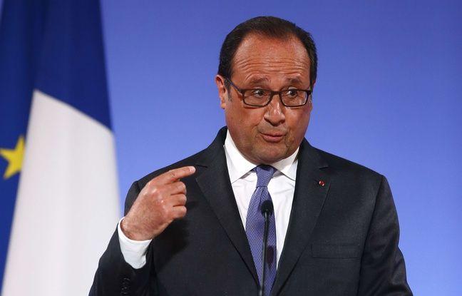 François Hollande à la Conférence des ambassadeurs à l'Elysée le 30 août 2016.