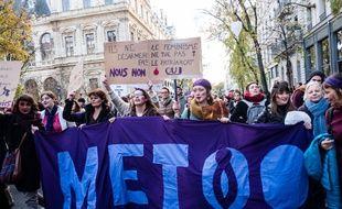 Marche contre les violences faites aux femmes à Lyon, le 24 novembre 2018.