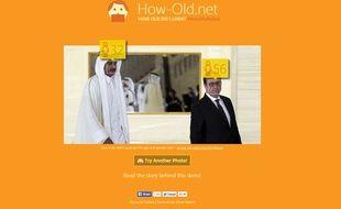 Capture d'écran du site «how-old.net».