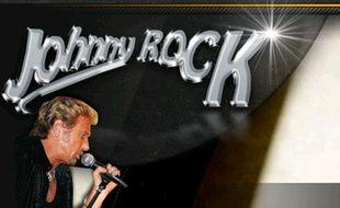 Capture d'écran du site de Johnny Rock, sosie de Johnny Halliday, le 9 octobre 2013.