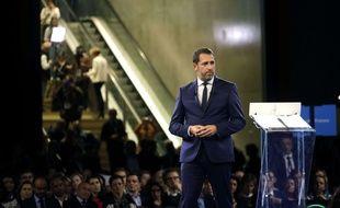 Christophe Castaner devant le Conseil de la République en marche réuni le 18 novembre 2017 à Lyon.