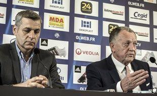 Jean-Michel Aulas, ici lors de la présentation devant la presse de Bruno Genesio, le 28 décembre 2015.