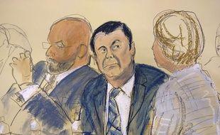 «El Chapo» lors de son procès à New York, le 13 novembre 2018.