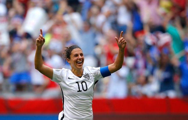 La joueuse américaine Carli Lloyd célèbre son but contre le Japon en finale du Mondial féminin, le 5 juillet 2015.