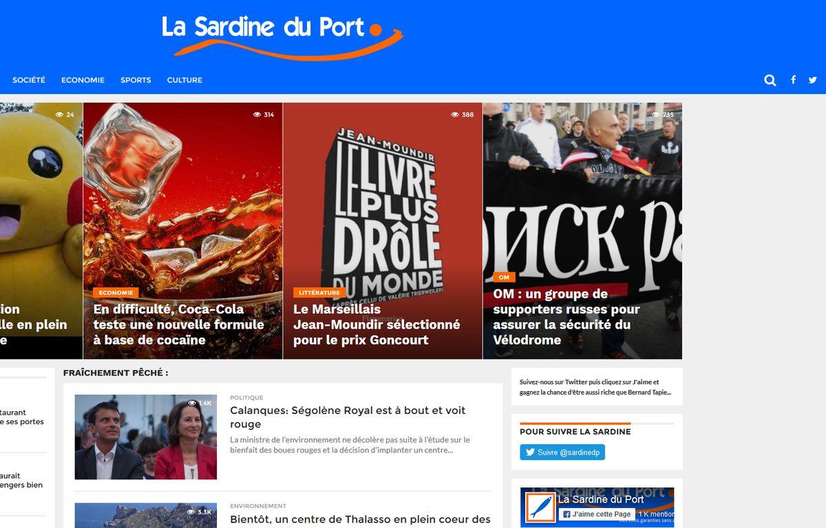 La Une de la Sardine du port – M.P