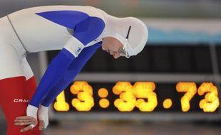 Le patineur de vitesse français Alexis Contin, le 23 février 2010, lors des Jeux de Vancouver.