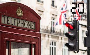 Vue de Londres, avec une cabine téléphonique, au Royaume-Uni
