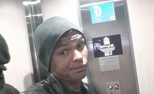 Thiago Silva bloqué dans un ascenseur le 6 janvier 2015.