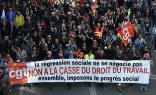Manifestation contre la loi travail le 9 avril 2016 à Paris