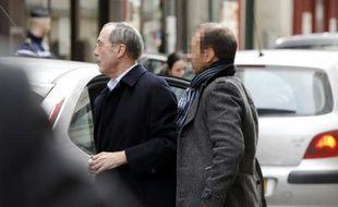 Claude Guéant à son arrivée au pôle financier du tribunal de grande instance le 7 mars 2015 à de Paris