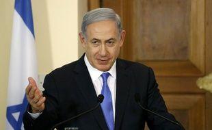 Le Premier ministre israélien Benyamin Netanyahou lors d'une conférence de presse à Nicosie (Chypre), lors d'une visite officielle, le 28 juillet 2015.