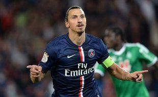 Zlatan Ibrahimovic a inscrit un triplé face à Saint-Étienne, le 31 août 2014.