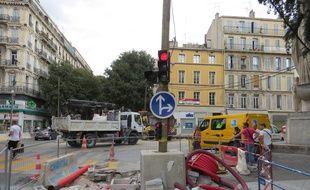 Marseille, le 17 septembre 2014, la filière des travaux publics pourraient perdre 5000 emplois en PACA d'ici 2017.