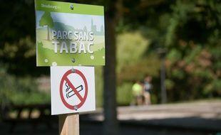 52 jardins et parcs vont bientôt être interdits aux fumeurs (photo d'illustration prise à Strasbourg).