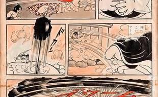 La planche rarissime d'Osamu Tezuka s'est vendue 269.400 euros.