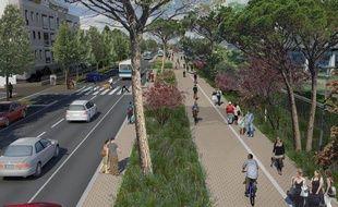 Le boulevard de Vitré, à Rennes, sera entièrement réaménagé pour laisser de la place aux piétons et cyclistes.