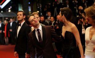 Xavier Dolan et l'équipe de Juste la fin du monde le 19 mai à Cannes
